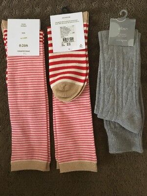 Country Road And Pumpkin Patch Girls Over Knee Socks Nwt