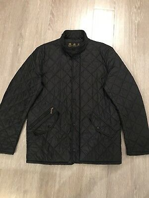 Mens Barbour Flyweight Black Quilted Jacket Size M Preowned