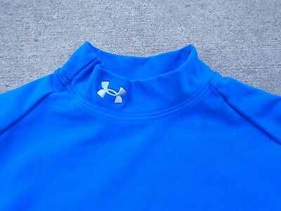UNDER ARMOUR COLDGEAR LONG SLEEVE BLUE MOCK COMPRESSION JERSEY WOMENS Sz S