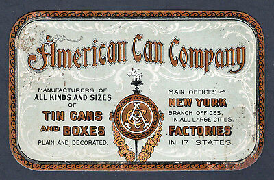 Scarce 1904 St Louis Exposition Tin Trade Card -  American Can Co