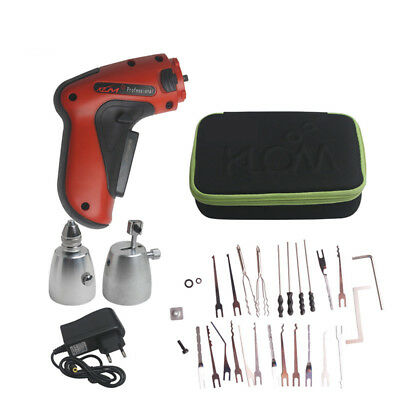 Cordless Electric Lock Pick Gun Locksmith Tools Lock Pick Set UK Power Adapter