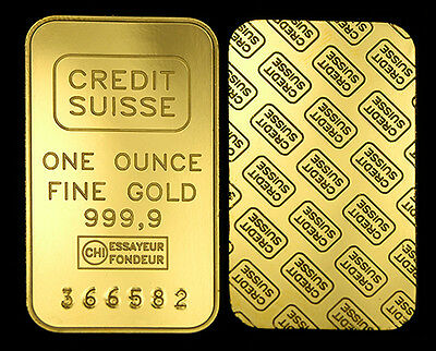 1 Oz Cs Finished In 999 24K Gold Bullion Bar Rare - Investment Rrp $50