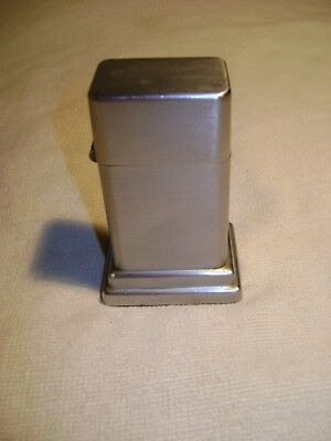 Vintage Zippo Barcroft Brushed Metal Table Lighter Clean No Graphics