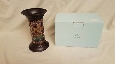 """Partylite Global Fusion Candle Mosaic Pillar 9"""" Stand"""