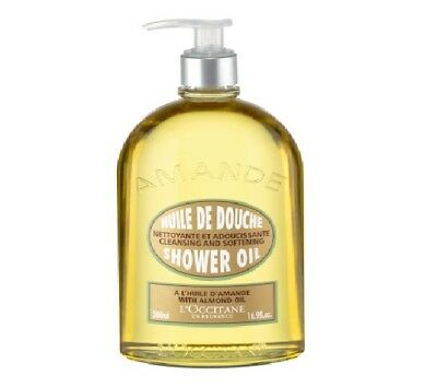 L'Occitane Almond Shower Oil Luxury Size 500ml - Helps To Hydrate And Nourish