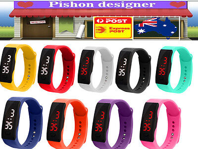 Kids Unisex Rubber LED Watch Silicone Sports WATCH Bracelet Wrist Watches Gifts