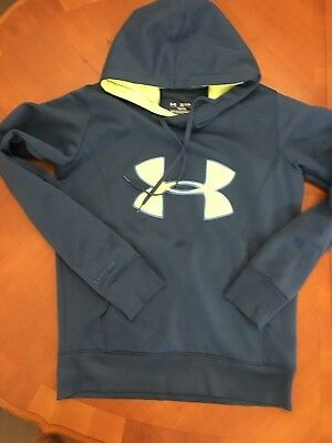 UNDER ARMOUR Fleece Hoodie with Neon Highlights Ladies Small/Kids Large