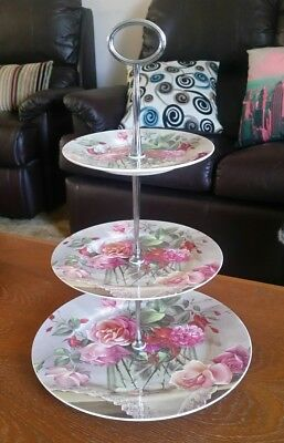 Maxwell Williams Sonnets High Tea 3 Tier Bone China Cake Stand 2006