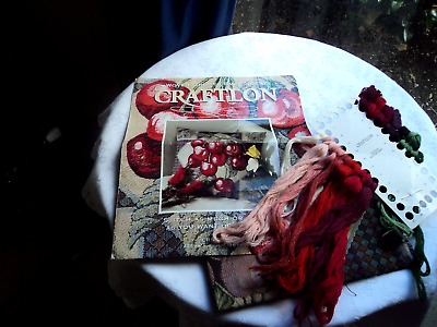 Craftlon crewel emroidery (Cherries) - cushion cover or picture kit - as new