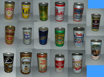 17 different empty USA beer cans bulk lot see listing for all details