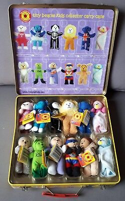 Tiny Beanie Kids Series 1 in collectors tin - 12 beanies (9 have tags)