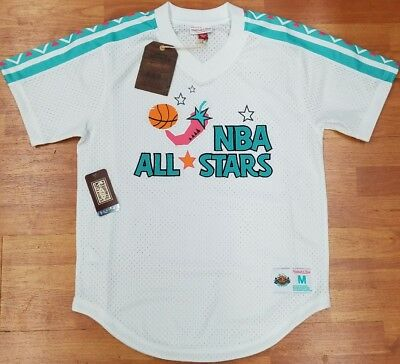 227e46e6a MITCHELL   NESS White 1996 NBA All-Star Mesh V-neck Jersey -  79.99 ...