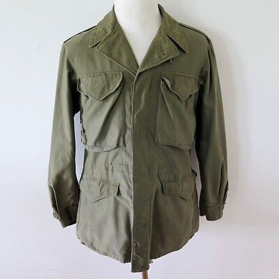 Vintage Original Ww2 Us Army M1943 M-1943 Jacket Field Coat Size 34 L