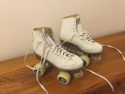 Girls Roller skates- White Leather- Crazy Skates Brand-size 35
