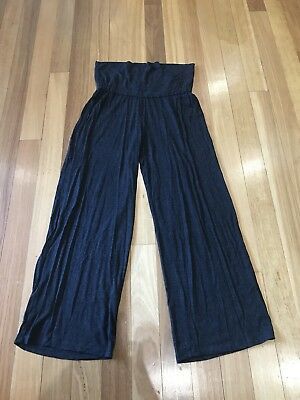 Now Maternity Charcoal Soft Casual Pants Size 14