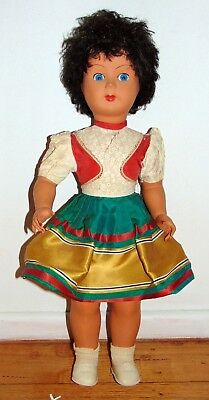 Vintage Brevettat Celluloid / Hard Plastic Doll Stamped made in Italy CARES