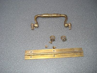 Barograph Case Brass Handle Hinge & Other Bits Parts Spares