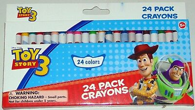 1 x Disney's Toy Story 24 Colours Set Bulk Wax Crayons Children Kid Drawing Gift