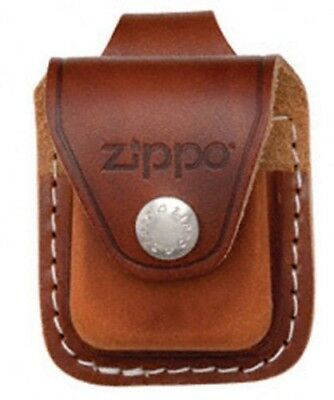 Zippo Brown Leather Lighter Pouch With Clip, Item LPCB, New In Box