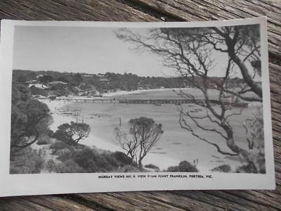 C 1940 s Point Franklin Portsea Victoria pier sandy beaches Murray view postcard