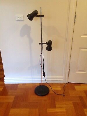 Vintage Retro Lights Twin Shade Oslo Style Mid Century Floor Lamp W. Germany 70s