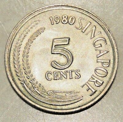 (2) Singapore - Five Cent Coin - 1980 - Reasonable Cond For Age