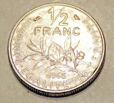 (1) France - Half Franc Coin - 1965 - Reasonable Cond For Age