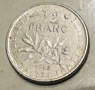(4) France - Half Franc Coin - 1965 - Reasonable Cond For Age