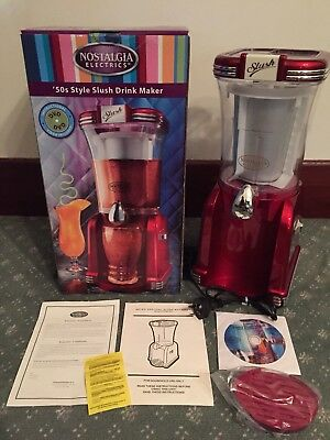 50s Style Slush Drink Maker (Brand New) - NOSTALGIA Kitchen Juice Bar Party