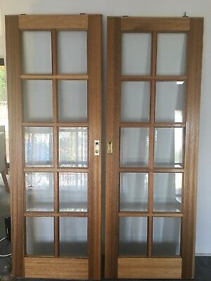 Timber Stained French Sliding Doors