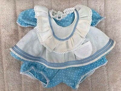My Child Doll Original Blue Hearts Pinny Outfit Replica Apron
