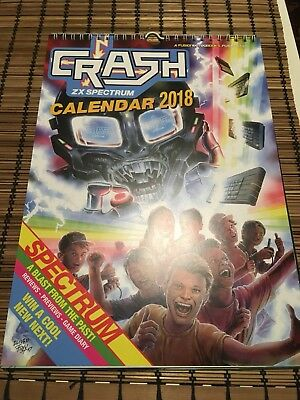 Crash Retro Games Calendar Zx Spectrum Artwork By Oliver Frey Kickstarter