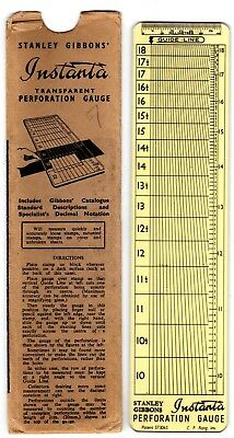 Sg Instanta Perforation Gauge, Older Style Good Condition With Paper Case