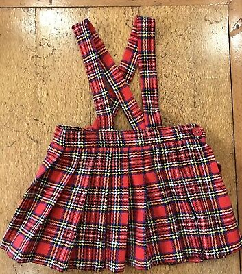 Vintage Child's Authentic Tartan by Bradbury's Pleated Skirt With Braces