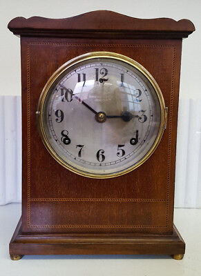 Vintage Mahogany Bracket Clock with Strike