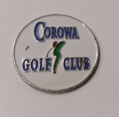 Corowa Golf Club green ball marker token 22mm