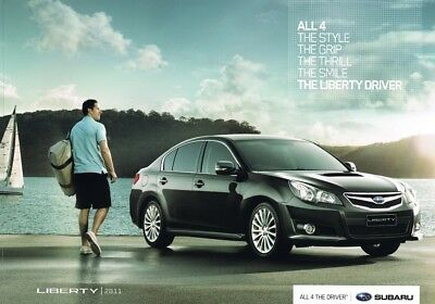 2011 Subaru Liberty (Legacy) Sedan,Wagon Australian Sales Brochure