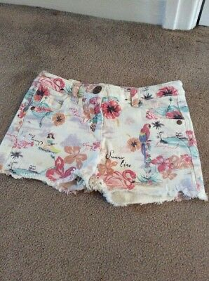 Girls Next Shorts Tropical Design Aged 7 Yrs