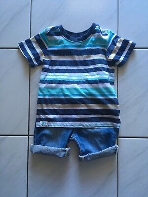 boy sprout shorts and top size 1