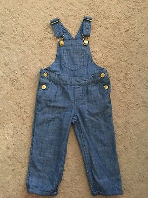 H&M Girls Lightweight Dungarees size 1.5-2years
