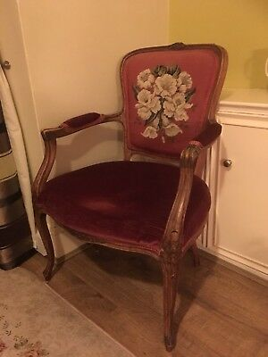 Stunning Antique Floral Design Nursing Chair