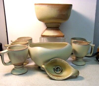 Vintage Frankoma Pottery DESERT GOLD COLLECTION 8 pieces - lot of 8 pieces