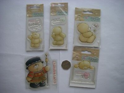 Job Lot 5 Packs CUTE FOREVER FRIENDS Mini Clear UNMOUNTED  STAMPS New  CLEAROUT