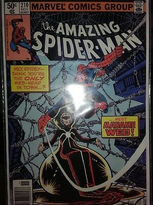 Marvel Comics Amazing Spider-Man #210 1St Madame Web