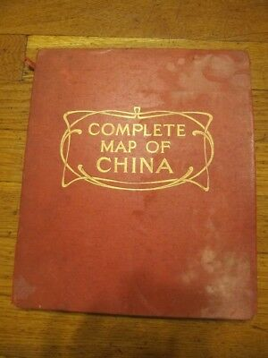 Rarest  Inland Mission Map Of China 1923 E.stanford London Edition 34X40'' Large