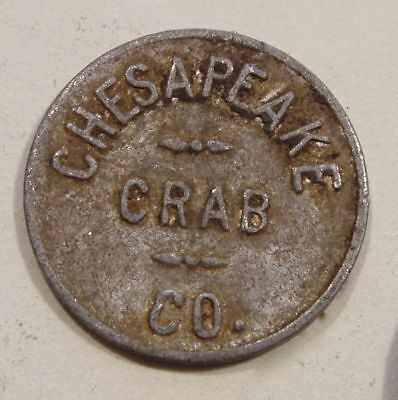 """Chesapeake Crab Co. Token.  """"1"""" Value.  Delaware? Maryland? Unlisted"""
