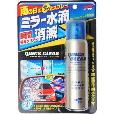 Soft99 New No Water Drop Glass Stain Cleaner Water Repellent Mirror Coat Car JDM