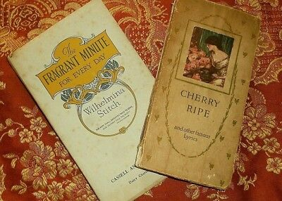 Two Early1900's Decorative Poetry Books: Cherry Ripe & The Fragrant Minute