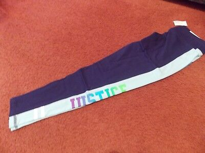 justice-- girls size 20-colorblock pocket leggings-blue--nwt
