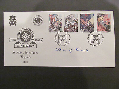 GB 1987 St John's Ambulance First Day Cover - Signed: Harold Wilson. Former PM.